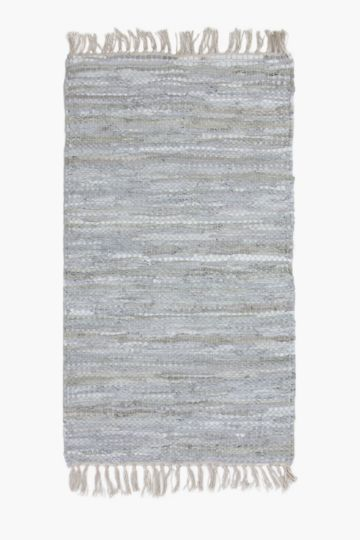 Leather Chindi 70x200cm Rug