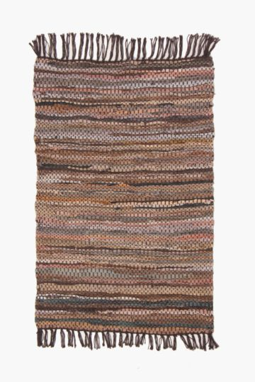 Leather Chindi 120x180cm Rug