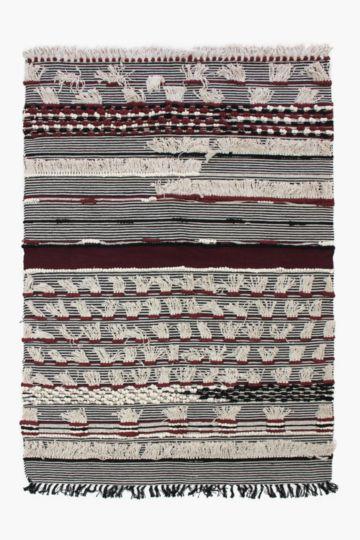 Textured Bobble Tassel 160x230cm Rug