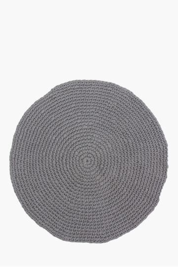 Round Rope Weave 120cm Knit Rug