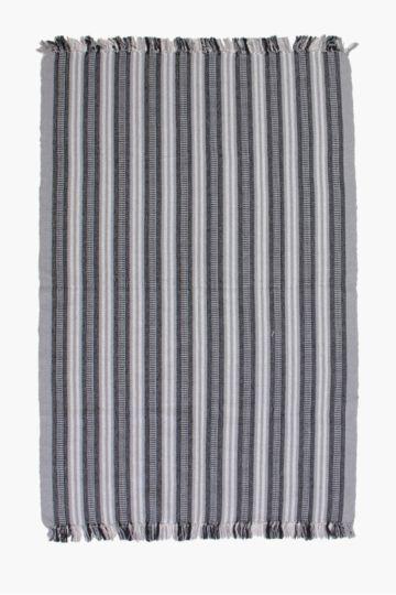 Fringe Stripe 120x80cm Rug