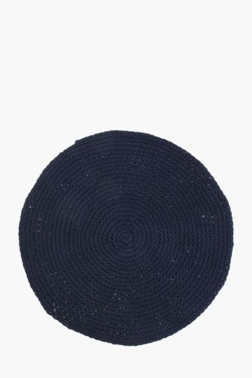 Round Rope Weave Knit Rug, 120cm
