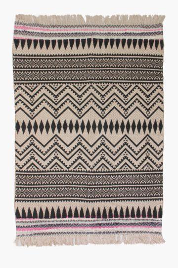 Printed Tribal Jute Rug, 120x180cm