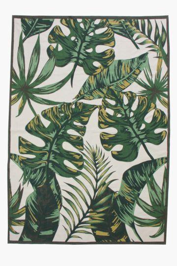 Printed Leaf Rug, 160x230cm