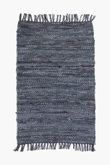 Leather Chindi Rug, 60x90cm