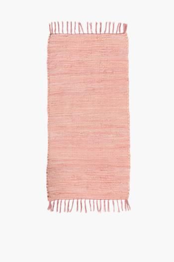 Plain Chindi Rug, 70x140cm