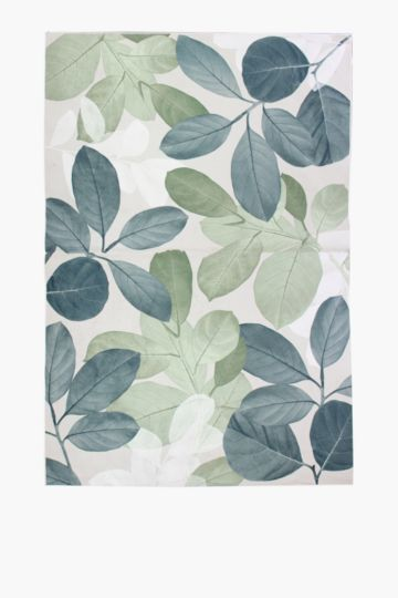 Printed Chenille Botanical Rug, 200x300cm