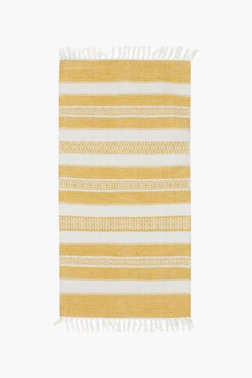 Jacquard Bobby Stripe Rug, 70x140cm