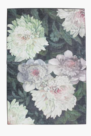 Printed Chenille Floral Rug, 200x300cm