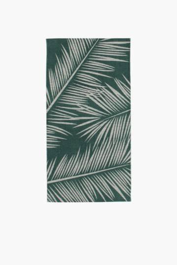 Printed Miami Palm Rug, 70x140cm