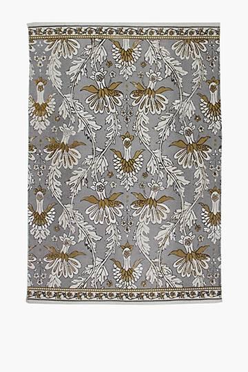 Printed Damask Rug, 120x180cm