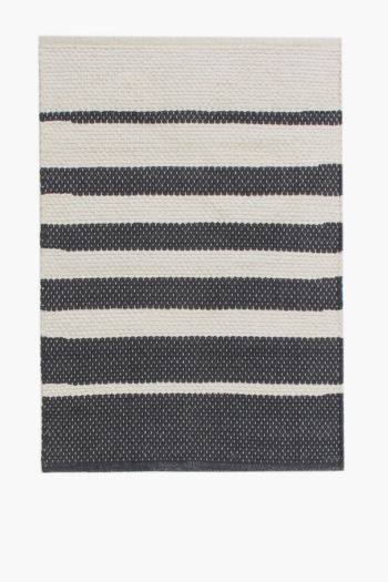 Jacquard Savannah Stripe Rug, 60x90cm