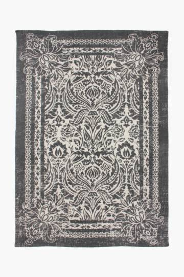 Printed Damask Rug, 160x230cm
