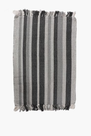 Stripe And Tassel Rug, 50x80cm