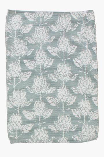 Printed Protea Chindi Rug, 60x90cm