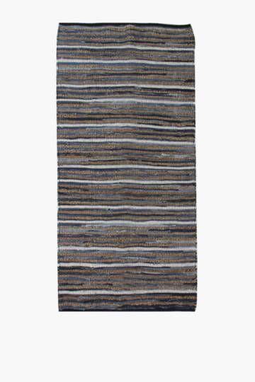 Jute Denim Stripe Runner, 70x200cm