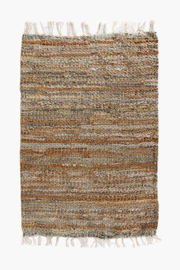 Leather Chindi Rug, 120x180cm
