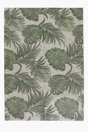 Chenille Leaves Rug, 160x240cm
