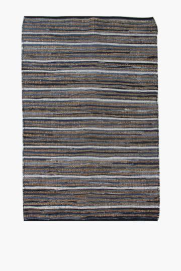 Jute Denim Stripe Rug, 180x230cm