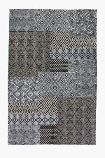 Printed Kigali Patchwork Rug, 120x180cm