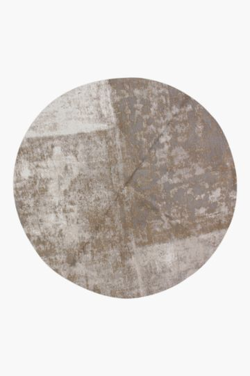 Chenille Abstract Patchwork Round Rug, 140cm