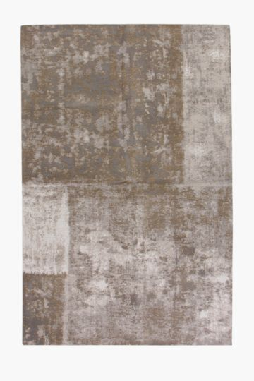 Chenille Abstract Patchwork Rug, 120x180cm