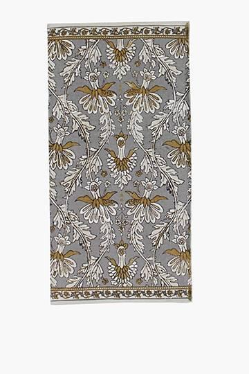 Printed Damask Rug, 70x140cm