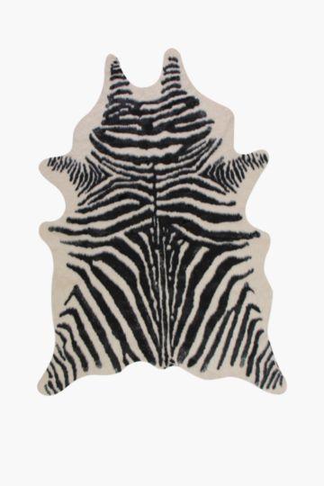 Faux Zebra Hyde Rug, 196x152cm