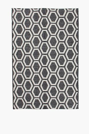 Jacquard Honeycomb Patio Rug, 120x180cm