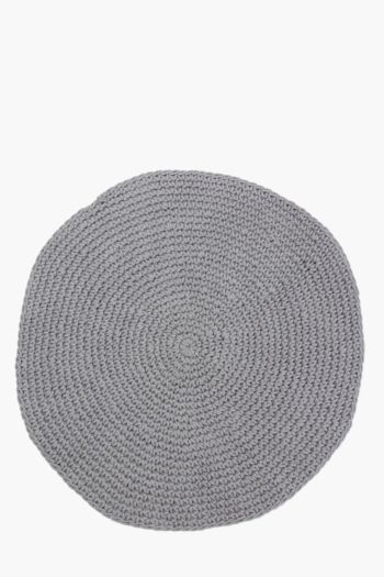 Round Rope Weave Knit Rug, 180cm