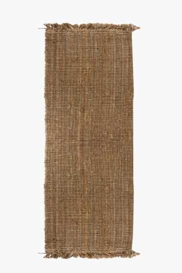 Knotted Jute Fray Runner, 70x300cm
