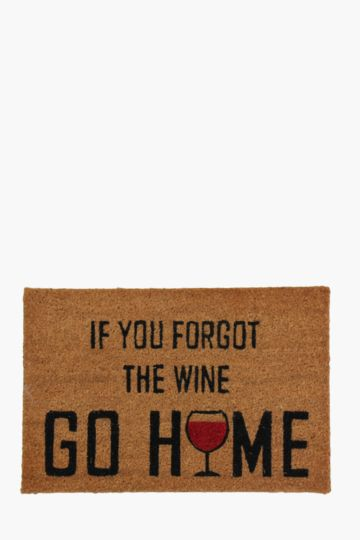 Forgot The Wine 40x60cm Door Mat