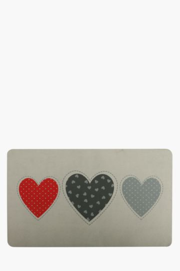 Heart 43x73cm Kitchen Mat