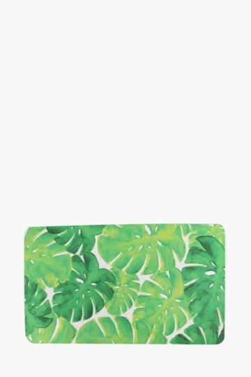 Tropical Leaf Kitchen Mat, 43x73cm