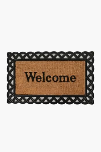 Coir And Rubber Welcome Door Mat, 45x75cm