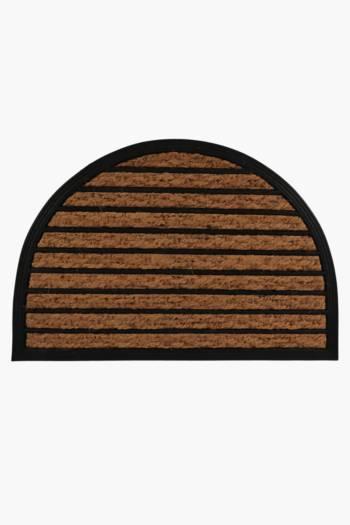 Coir And Rubber Half Moon Door Mat, 40x60cm
