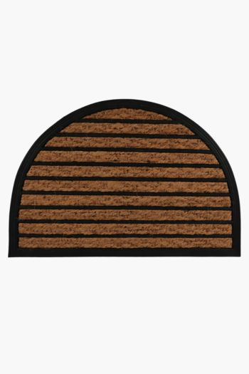 Coir And Rubber Half Moon Door Mat, 40x60cm