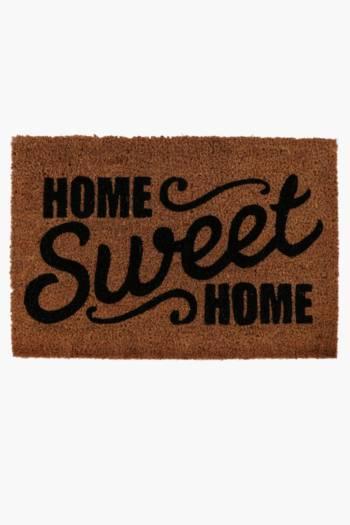 Coir Home Sweet Home Door Mat, 40x60cm