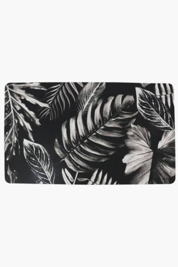 Palm Leaf Kitchen Mat, 43x73cm