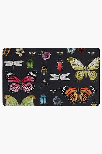 Pu Coated Butterfly Kitchen Mat, 43x73cm