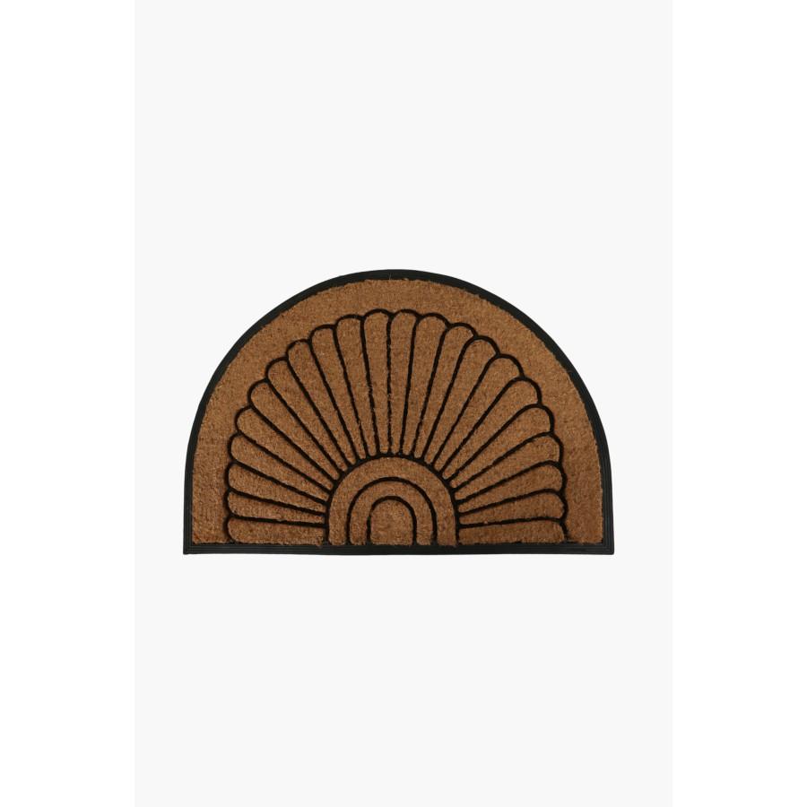 Cut Out Coir Rubber Half Moon Door Mat
