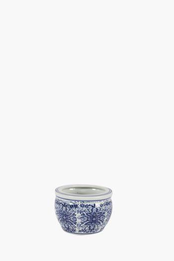 Delft Floral Ceramic Planter Small