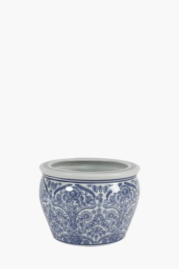 Delft Floral Ceramic Planter