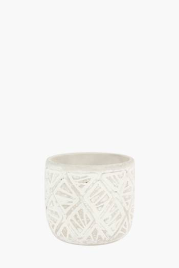 Geo Etched Planter Small