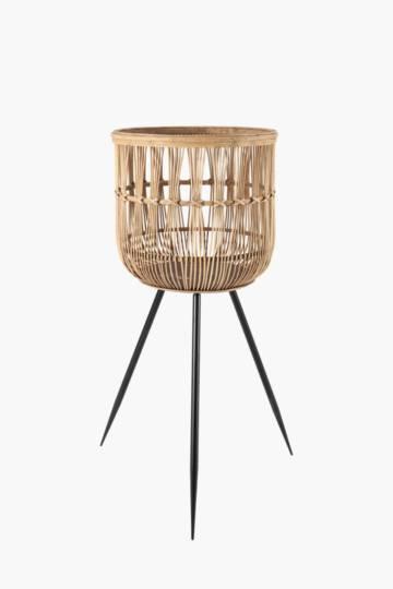 Bamboo Basket Standing Planter Large