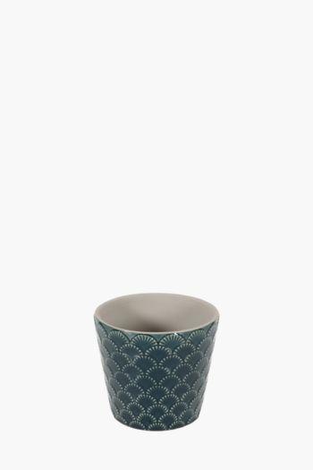 Embossed Ceramic Planter