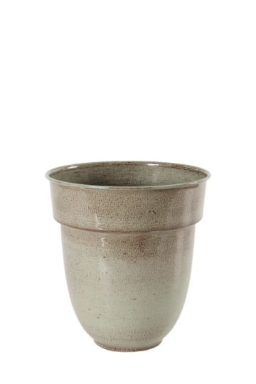 Metal Lipped Planter, Small