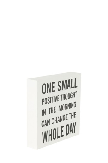 Positive Thoughts Plaque