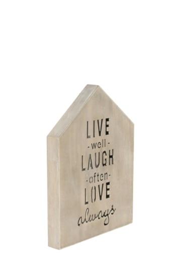 Live Laugh Wall Plaque
