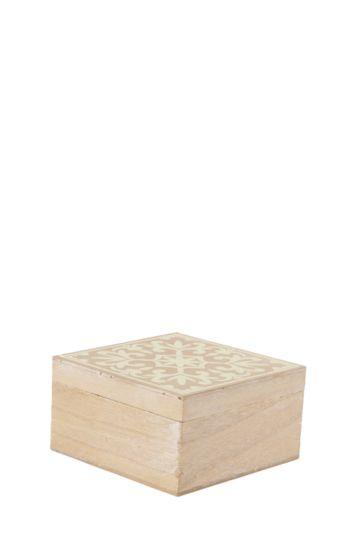 Wooden Morrocan Tile Box